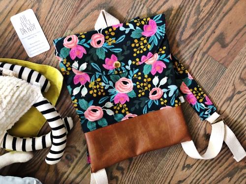 toddler backpack, nashville, handmade, maker