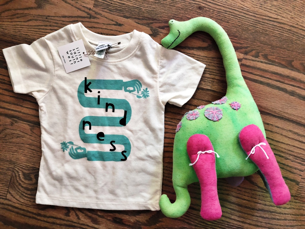 graphic tee, screen print, toddler clothes, fashion, dinosaur, handmade, maker