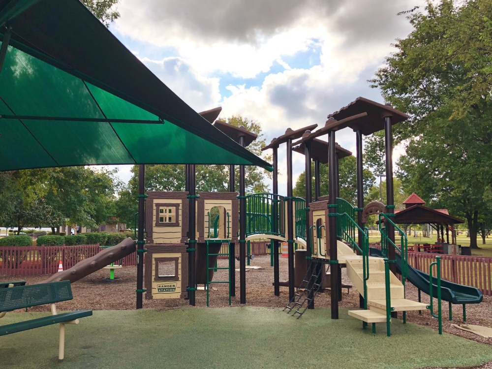 climbing structure/playscape at Don Fox Community Park in Lebanon, TN